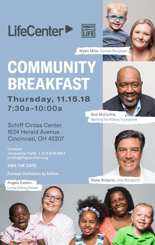 LifeCenter Community Breakfast, 2018